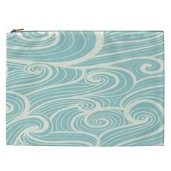 Blue Waves Cosmetic Bag (xxl)  by Alisyart