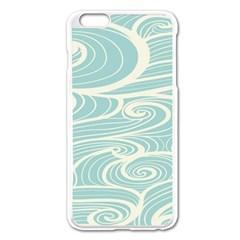 Blue Waves Apple Iphone 6 Plus/6s Plus Enamel White Case by Alisyart