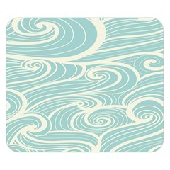 Blue Waves Double Sided Flano Blanket (small)  by Alisyart