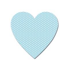 Circle Blue White Heart Magnet by Alisyart