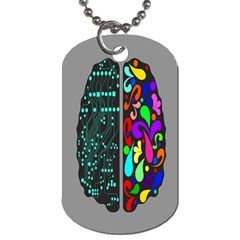 Emotional Rational Brain Dog Tag (two Sides) by Alisyart