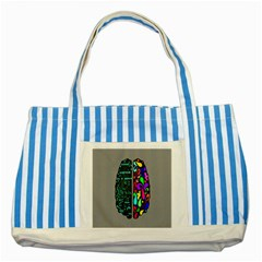 Emotional Rational Brain Striped Blue Tote Bag by Alisyart