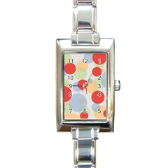 Contrast Analogous Colour Circle Red Green Orange Rectangle Italian Charm Watch by Alisyart