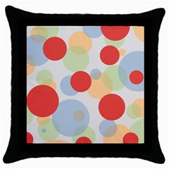 Contrast Analogous Colour Circle Red Green Orange Throw Pillow Case (black) by Alisyart