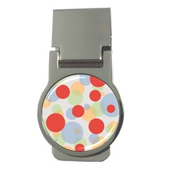 Contrast Analogous Colour Circle Red Green Orange Money Clips (round)  by Alisyart