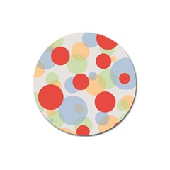 Contrast Analogous Colour Circle Red Green Orange Magnet 3  (round) by Alisyart