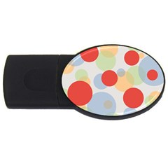 Contrast Analogous Colour Circle Red Green Orange Usb Flash Drive Oval (4 Gb) by Alisyart