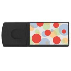 Contrast Analogous Colour Circle Red Green Orange Usb Flash Drive Rectangular (4 Gb) by Alisyart