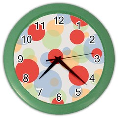 Contrast Analogous Colour Circle Red Green Orange Color Wall Clocks by Alisyart