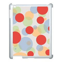 Contrast Analogous Colour Circle Red Green Orange Apple Ipad 3/4 Case (white) by Alisyart