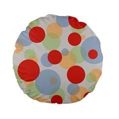 Contrast Analogous Colour Circle Red Green Orange Standard 15  Premium Flano Round Cushions by Alisyart