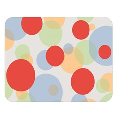 Contrast Analogous Colour Circle Red Green Orange Double Sided Flano Blanket (large)  by Alisyart