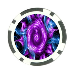 Colors Light Blue Purple Hole Space Galaxy Poker Chip Card Guard (10 Pack) by Alisyart