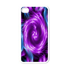 Colors Light Blue Purple Hole Space Galaxy Apple Iphone 4 Case (white) by Alisyart