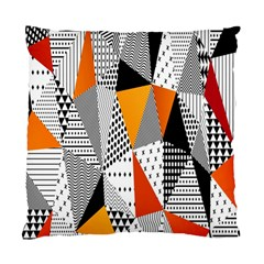 Contrast Hero Triangle Plaid Circle Wave Chevron Orange White Black Line Standard Cushion Case (one Side) by Alisyart