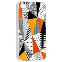 Contrast Hero Triangle Plaid Circle Wave Chevron Orange White Black Line Apple Iphone 4/4s Seamless Case (white) by Alisyart