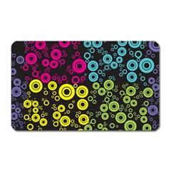 Circle Ring Color Purple Pink Yellow Blue Magnet (rectangular) by Alisyart