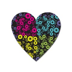 Circle Ring Color Purple Pink Yellow Blue Heart Magnet by Alisyart