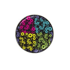 Circle Ring Color Purple Pink Yellow Blue Hat Clip Ball Marker (4 Pack) by Alisyart
