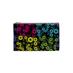 Circle Ring Color Purple Pink Yellow Blue Cosmetic Bag (small)  by Alisyart