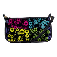 Circle Ring Color Purple Pink Yellow Blue Shoulder Clutch Bags by Alisyart