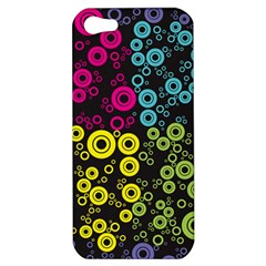 Circle Ring Color Purple Pink Yellow Blue Apple Iphone 5 Hardshell Case by Alisyart