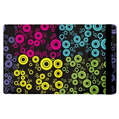 Circle Ring Color Purple Pink Yellow Blue Apple Ipad 3/4 Flip Case by Alisyart