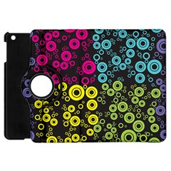 Circle Ring Color Purple Pink Yellow Blue Apple Ipad Mini Flip 360 Case by Alisyart