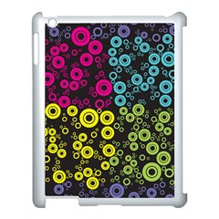 Circle Ring Color Purple Pink Yellow Blue Apple Ipad 3/4 Case (white) by Alisyart