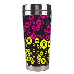 Circle Ring Color Purple Pink Yellow Blue Stainless Steel Travel Tumblers by Alisyart