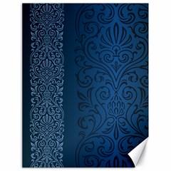 Fabric Blue Batik Canvas 18  X 24   by Alisyart