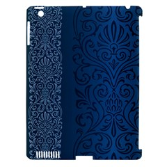 Fabric Blue Batik Apple Ipad 3/4 Hardshell Case (compatible With Smart Cover) by Alisyart