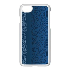 Fabric Blue Batik Apple Iphone 7 Seamless Case (white) by Alisyart
