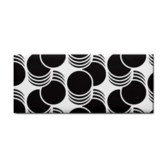 Floral Geometric Circle Black White Hole Cosmetic Storage Cases by Alisyart