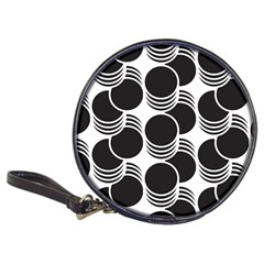 Floral Geometric Circle Black White Hole Classic 20 Cd Wallets by Alisyart