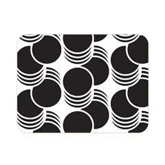 Floral Geometric Circle Black White Hole Double Sided Flano Blanket (mini)  by Alisyart