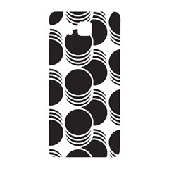 Floral Geometric Circle Black White Hole Samsung Galaxy Alpha Hardshell Back Case by Alisyart