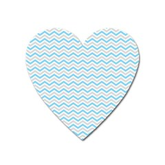 Free Plushie Wave Chevron Blue Grey Gray Heart Magnet by Alisyart