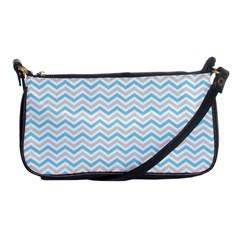 Free Plushie Wave Chevron Blue Grey Gray Shoulder Clutch Bags by Alisyart