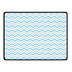 Free Plushie Wave Chevron Blue Grey Gray Fleece Blanket (small) by Alisyart