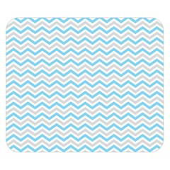 Free Plushie Wave Chevron Blue Grey Gray Double Sided Flano Blanket (small)  by Alisyart