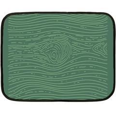 Illustration Green Grains Line Double Sided Fleece Blanket (mini)  by Alisyart
