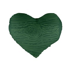 Illustration Green Grains Line Standard 16  Premium Heart Shape Cushions by Alisyart