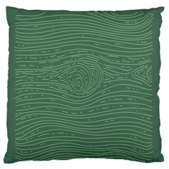 Illustration Green Grains Line Standard Flano Cushion Case (two Sides) by Alisyart