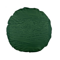 Illustration Green Grains Line Standard 15  Premium Flano Round Cushions by Alisyart