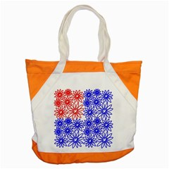 Flower Floral Smile Face Red Blue Sunflower Accent Tote Bag by Alisyart