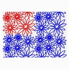 Flower Floral Smile Face Red Blue Sunflower Large Glasses Cloth by Alisyart