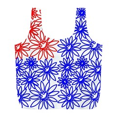 Flower Floral Smile Face Red Blue Sunflower Full Print Recycle Bags (l)  by Alisyart