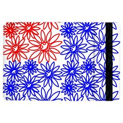 Flower Floral Smile Face Red Blue Sunflower Ipad Air 2 Flip by Alisyart