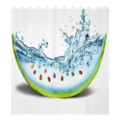 Fruit Water Slice Watermelon Shower Curtain 66  X 72  (large)  by Alisyart
